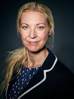Porträtt av Pia Vallgårda, administratör